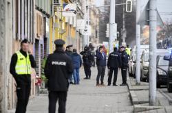 Policejní zásah v Lidické ulici v Brně