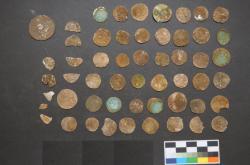 Nalezené stříbrné mince z Moravského krasu