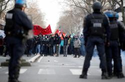 Pařížská demonstrace odborů