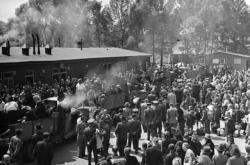 Jeden z táborů pro vysídlené Němce