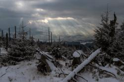 Ani na Šumavě nejsou závěje sněhu