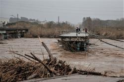 Povodně v Katalánsku po bouři Gloria