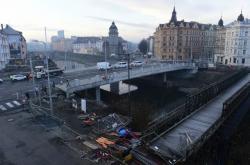 Nový most v Komenského ulici v Olomouci