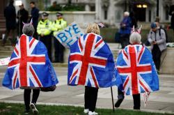 Lidé oslavují brexit