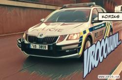 Nové bezpečností rámy pro policejní auta. Mají pomáhat zastavovat ujíždějící řidiče
