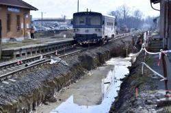 Vlakové nádraží v Hustopečích