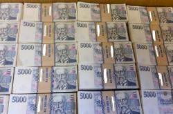 Peníze zajištěné při policejní akci Prizma