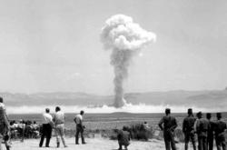 Test atomové zbraně na pevnině, ilustrační foto