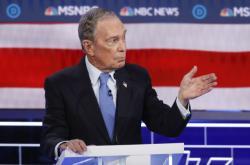 Michael Bloomberg během televizní debaty