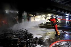 Následky požáru u Gare de Lyon