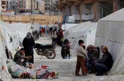 Tábor pro vnitřní uprchlíky v Idlibu