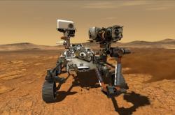Vizualizace roveru Perseverance na Marsu