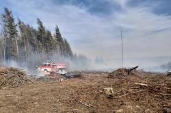 Požár mýtiny u Ratiboře