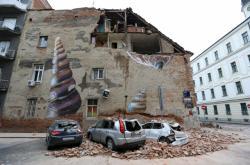 Škody v Záhřebu