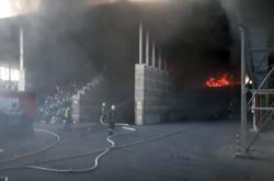 Požár elektroodpadu v Jihlavě