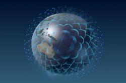 Vizualizace satelitní sítě OneWeb