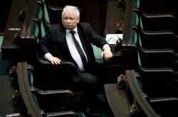 Jaroslaw Kaczynski na jednání Sejmu