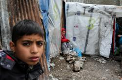 Azylanti v táboře na Lesbu