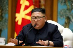 Kim Čong-un na snímku zveřejněném 11. dubna 2020