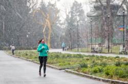 Sněžení v Olomouci