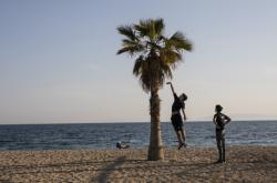 Pláž v Aténách
