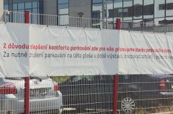 Místo pro nový parkovací dům v Brně