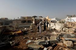 Místo havárie pákistánského letadla