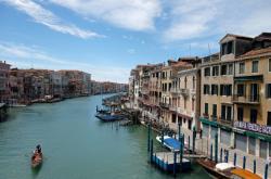 Velká kanál v Benátkách zůstává bez turistů