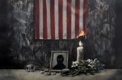 Banksyho nový obraz, který umělec vyvěsil na Instagramu