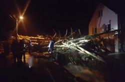 Bouřky v Olomouckém kraji poškodili i několik domů