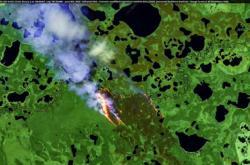 Požáry na Sibiři v květnu 2020