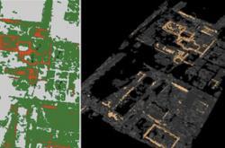 Radarový snímek města Falerii Novi