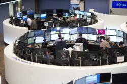 Akciová burza ve Frankfurtu nad Mohanem (snímek je z února)