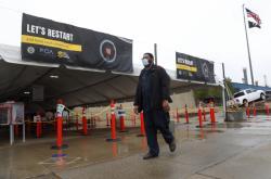 Továrna firmy Fiat Chrysler ve Warrenu, stát Michigan. Americké automobilky v květnu znovu spustily výrobní linky.