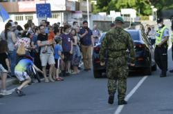 Protest na česko-polské hranici v Těšíně