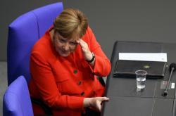 Angela Merkelová ve Spolkovém sněmu