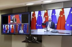 Videokonference EU a Číny