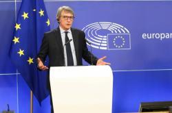 Předseda Evropského parlamentu David-Maria Sassoli