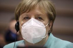 Německá kancléřka Angela Merkelová v Evropském parlamentu