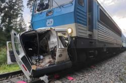 Nehoda na přejezdu v Borohrádku