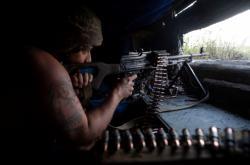 Ukrajinský voják na Donbasu