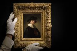 Rembrandtův autoportrét vydražený za 14,5 milionu liber