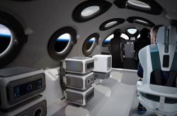 Interiér SpaceShipTwo