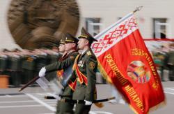 Vojenská přehlídka v Bělorusku