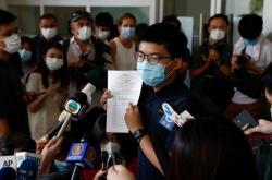 Joshua Wong s přihláškou do voleb