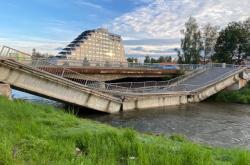 Propadlý most ve Spišské Nové Vsi
