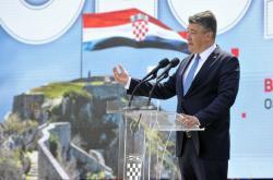 Chorvatský prezident Zoran Milanović v chorvatském Kninu