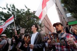 Protesty proti zřejmě zfalšovaným volbám v Bělorusku