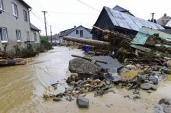 Následky povodně v Šumvaldu