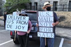 Akce na podporu americké pošty